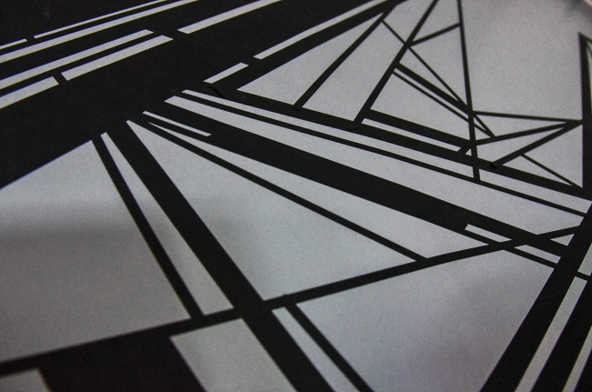 MESによる壁面アートワーク