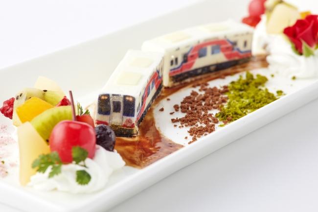 春風香る列車のチーズケーキ~三陸鉄道復興応援コラボデザート~(イメージ)