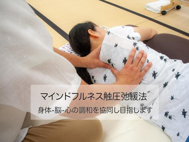 ごく軽い触圧覚にて、身体と脳に働きかけます
