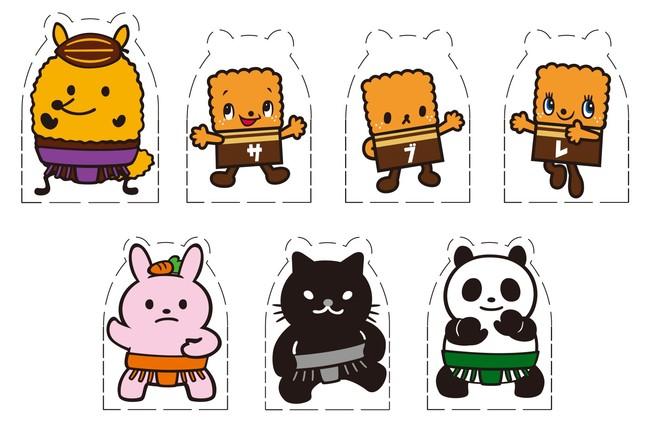 トントン相撲ペーパークラフト(全7種類)