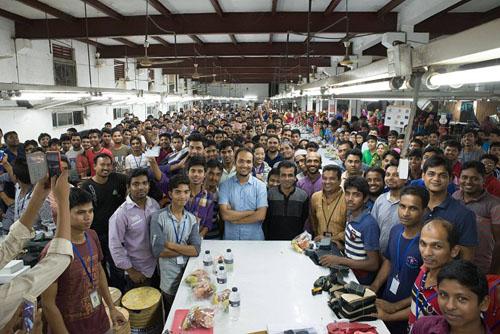 バングラデシュ工場の様子