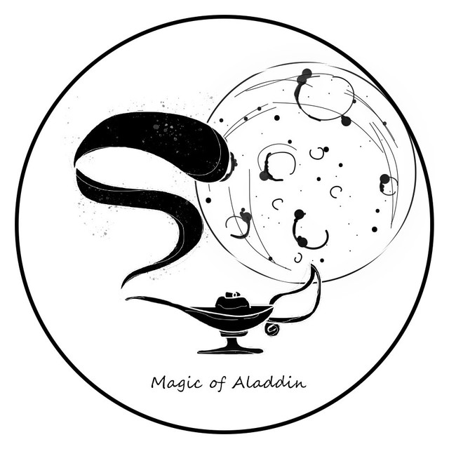 アラジンの魔法公式ロゴマーク