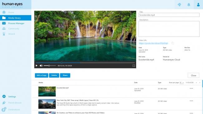 HumanEyesCloud®1.0 Beta の編集画面