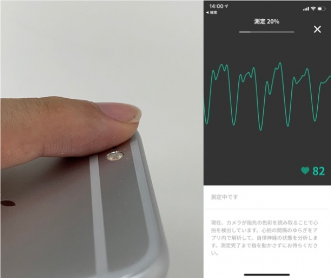 スマートフォンのカメラで測定が可能
