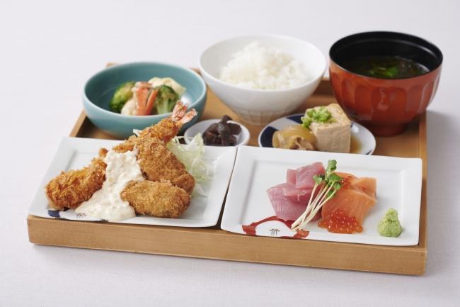 「お刺身&フライ定食」 1,380円(税別)