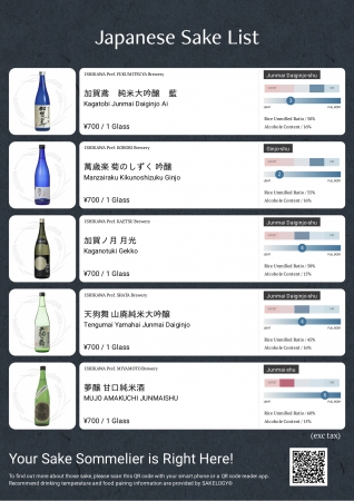 日本酒の味わいを統一化することで、日本酒の味わいの違いがわかりやすくなりました。(石川県の蔵元・酒販店の協力により開発。2019年2月リリース)