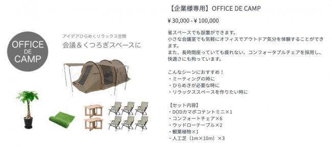 OFFICE DE CAMPスクリーン画面