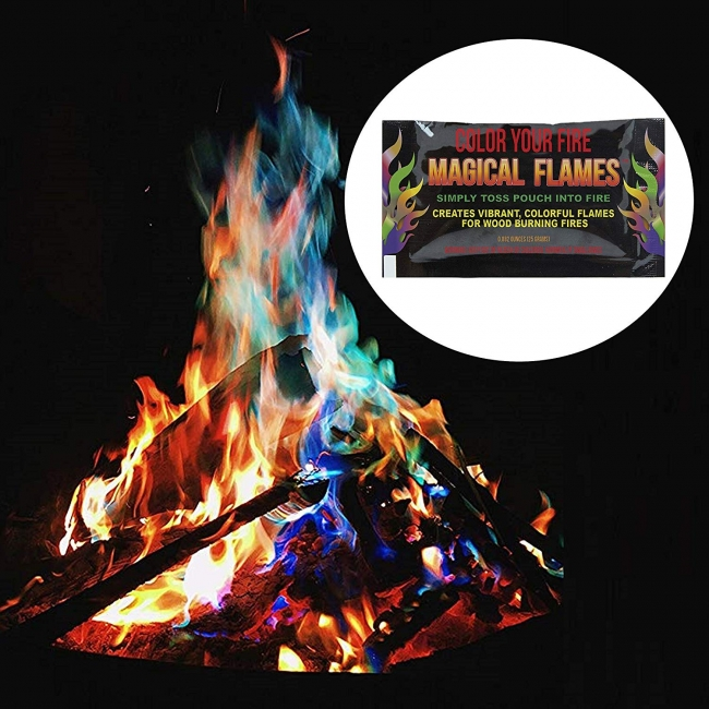 焚き火の色が虹色に変わる『マジカルフレイム』