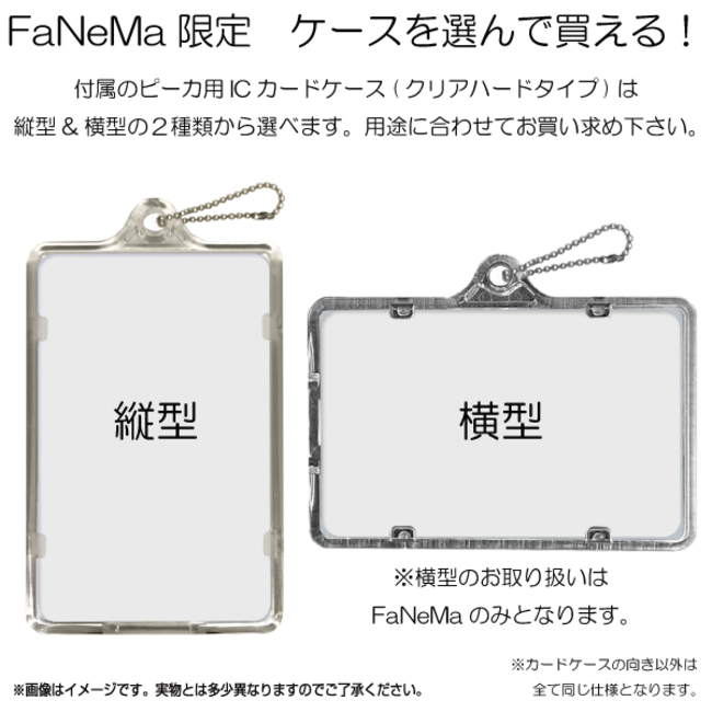 「FaNeMa」にてご予約購入いただくとパスケースの縦横をお選びいただけます。