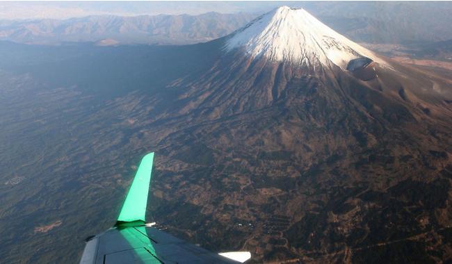 【上空からの富士山(イメージ)】
