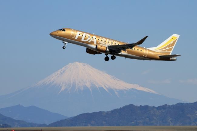 FDA9号機と富士山