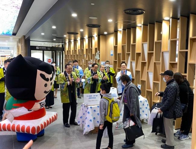 到着便歓迎@青森空港