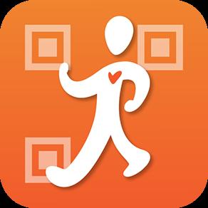 「スマ歩スタンプラリー」ロゴ iOS版とAndroid版の両対応