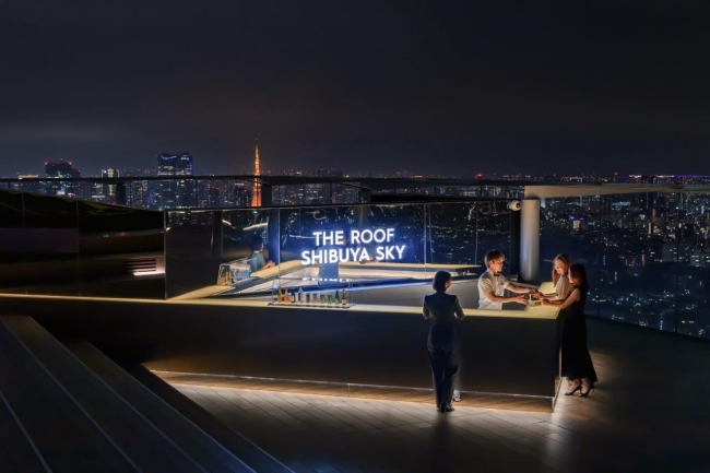 「THE ROOF SHIBUYA SKY」カウンター