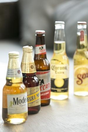 メキシコのビールが充実している。