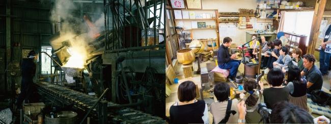 鋳物工場と、例年の様子