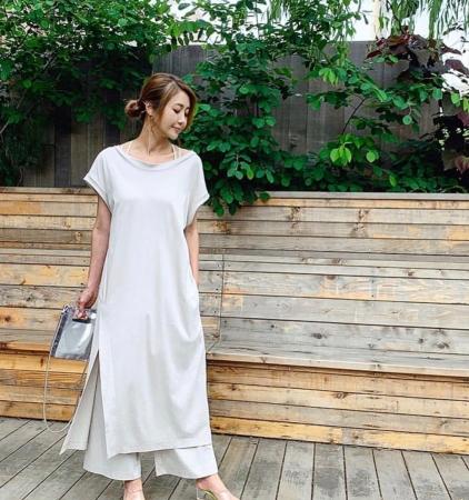 デザイナー・川島幸美氏。ワンマイルウェアを着用。
