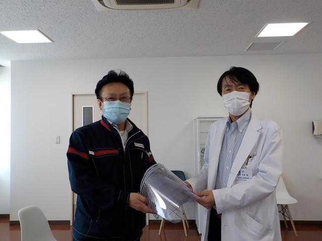 (左) 富士工業 総務部長 (右) 相模野病院 院長