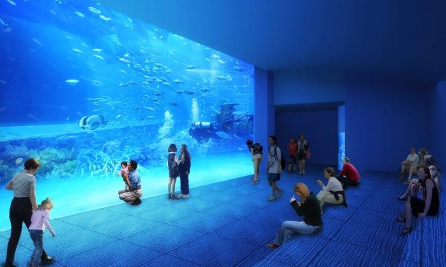 館内最大の⻯串湾大水槽