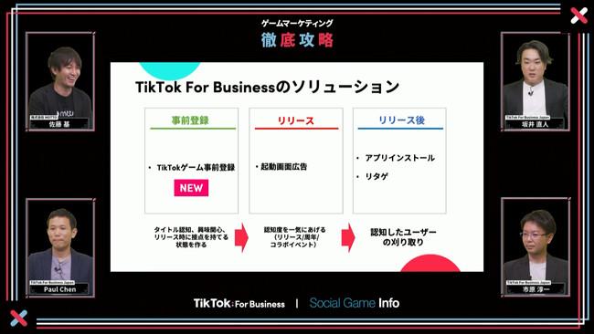 (左上から)MOTTO佐藤基氏 / TikTok For Business Japan 坂井直人 / TikTok For Business Japan Paul Chen / TikTok For Business Japan 市原淳一