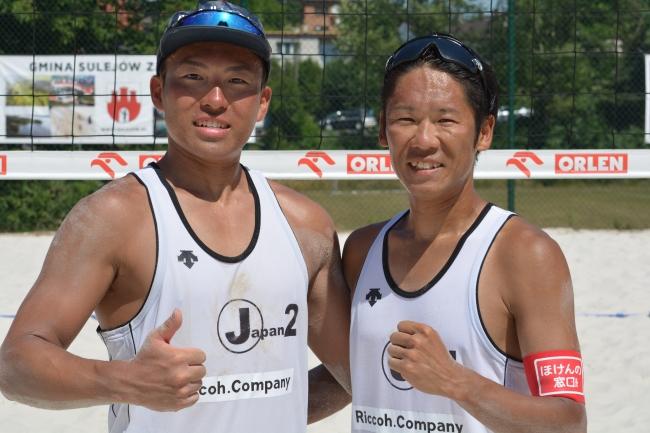 男子:4位 伊村隆臣(左)竹村徳比古(右)