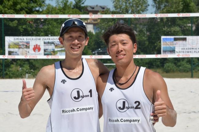 男子:3位 瀬井達也(左)今井勇太(右)