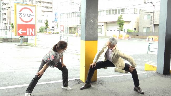 """【〆真さば""""股関節""""ストレッチ】股関節をグッとスー(酢)っと伸ばす"""