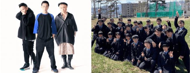 写真左:MOL、写真右:地元学校の吹奏楽部