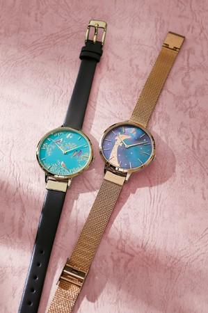 <サラミラーロンドン>腕時計 (左)ツバメ 17,600円 (右)キリン 19,800円