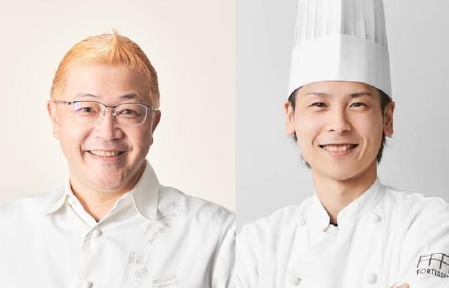 左)辻口シェフ 右)石本シェフ