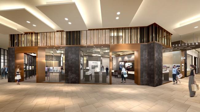 (1F) 名駅エリア中心地、立ち寄りやすい低層階に 誕生する日本最大級の高級時計ゾーン