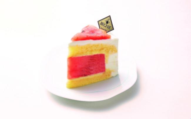 <レニエ リヴゴーシュ> スイカのショートケーキ 540円