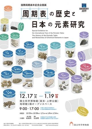 「周期表の歴史と日本の元素研究」