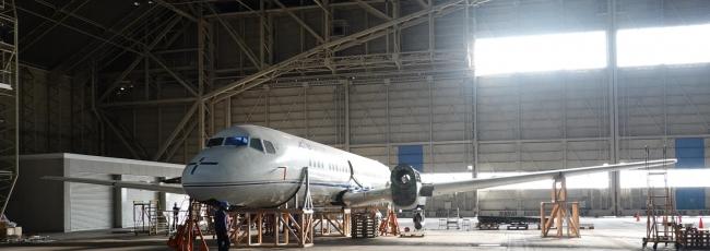 2019年12月16日 胴体と主翼のみになったYS-11 国立科学博物館