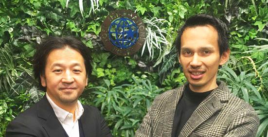 ホープインターナショナルワークス株式会社 高村 三礼(左)  株式会社ビープライス 玉城 貴也(右)