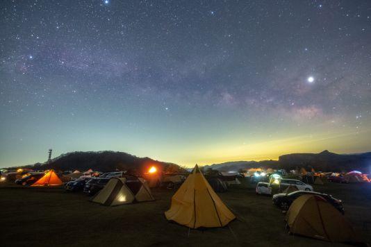 満点の星空での天体観測
