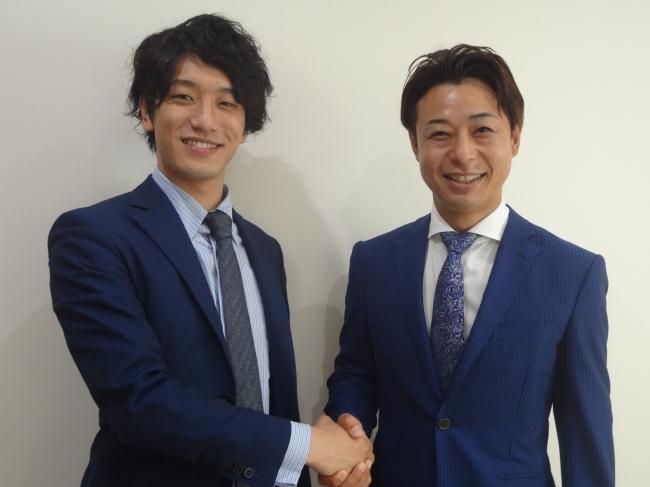 株式会社OWNERS CLUB代表岩屋氏(右)と株式会社ドローンフロンティア代表弓削氏(左)