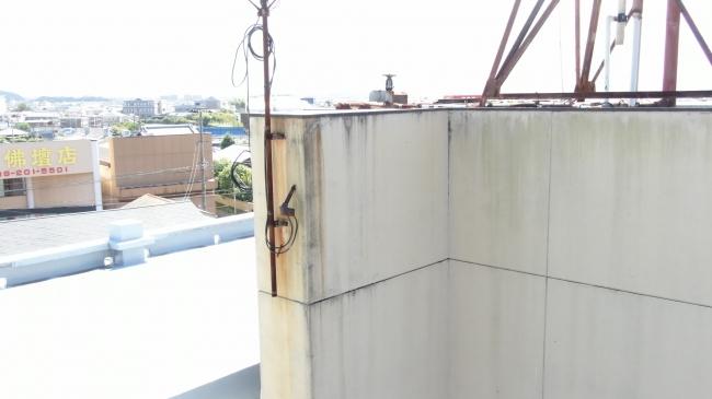 ドローンによる屋上塔屋撮影画像