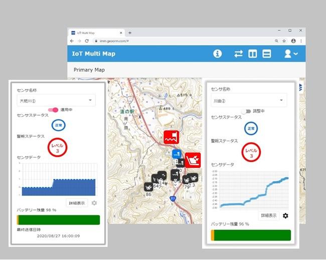 モニタリングデータ管理画面