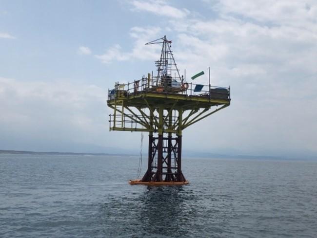 海上でのSPT調査イメージ