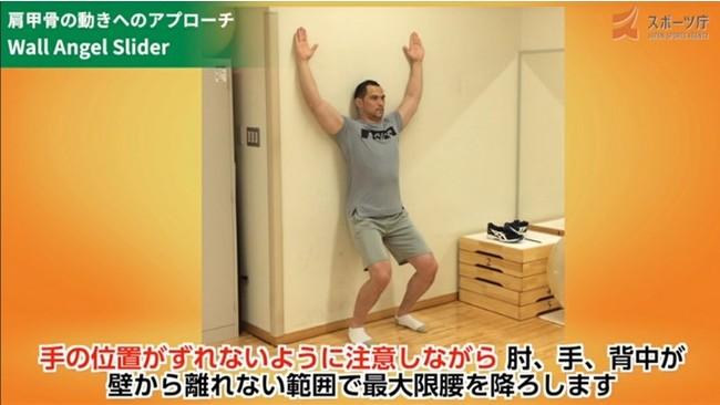 改善動画【肩甲骨の動きへのアプローチ】Wall Angel Slider