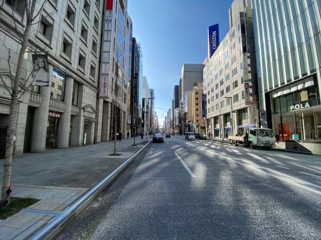 東京銀座ショールームの店舗前風景
