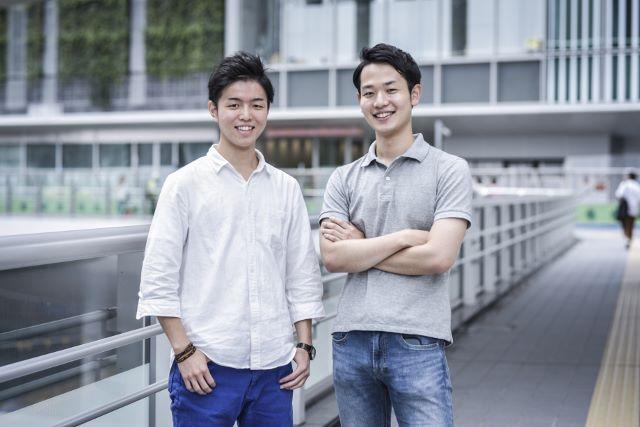 学生代表松井達夢と地方学生のディレクション野津直生(右)