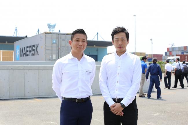 マースク最高経営責任者 北東アジア地区 西山 徹氏(左)シンク・ロジスティクス 代表取締役社長 一木 貴大(右)
