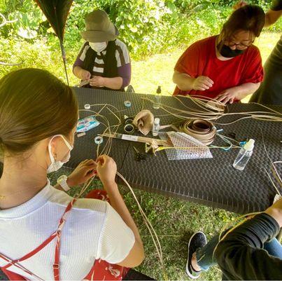 アダン葉を編む体験クラス