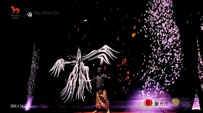 ※PHスクリーンイメージ/新宿御苑で行われた政府初の夜桜イベントの様子