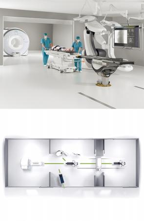 マルチモダリティ対応のハイブリッド手術室(イメージ)