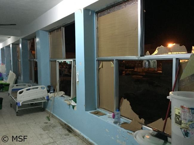 12月4日未明に空爆を受けたアル・ジュムフリ病院