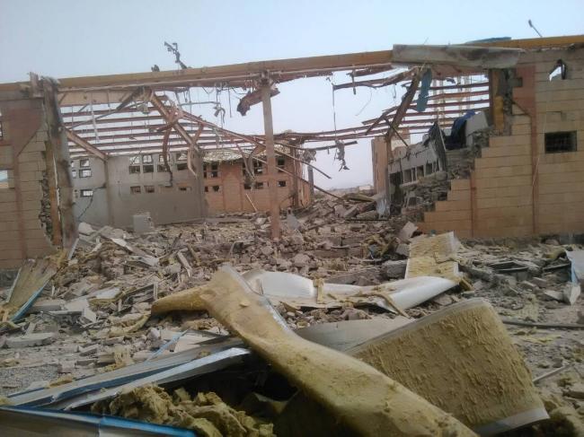 攻撃を受けたMSFのコレラ治療センターの建物 2018年6月撮影 (C) MSF