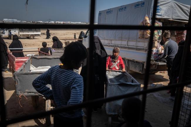 シリア北東部アルホール国内避難民キャンプ (C) MSF